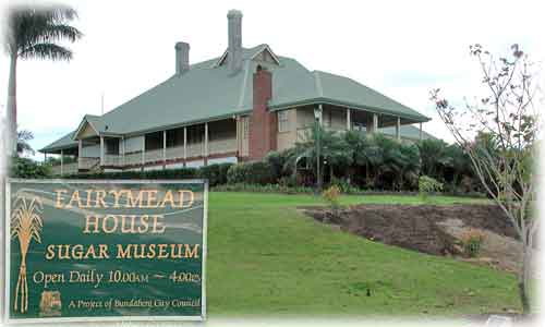 An outside view of Fairymead House Sugar Museum